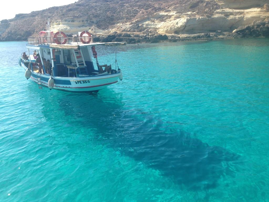 Escursione barca, Lampedusa