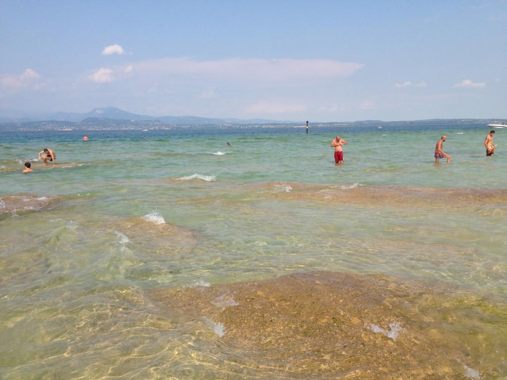 Spiaggia, Sirmione, Scogli